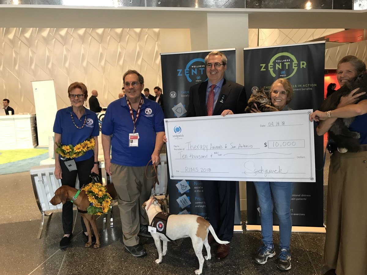 Sedgwick donates $10,000 to Therapy Animals of San Antonio